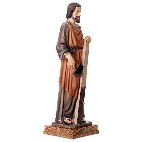 San Giuseppe Falegname 33 cm resina s4