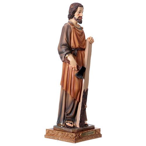 San Giuseppe Falegname 33 cm resina 4