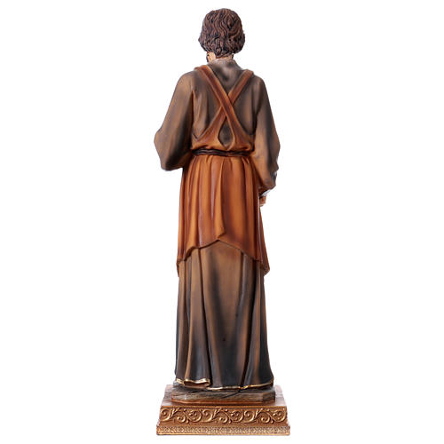 San Giuseppe Falegname 33 cm resina 5