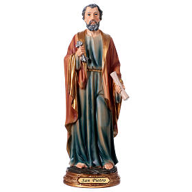 St. Peter statue in resin 30 cm s1