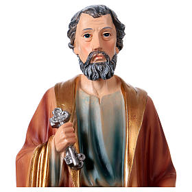 St. Peter statue in resin 30 cm s2