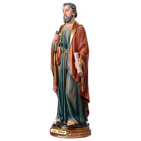 St. Peter statue in resin 30 cm s3