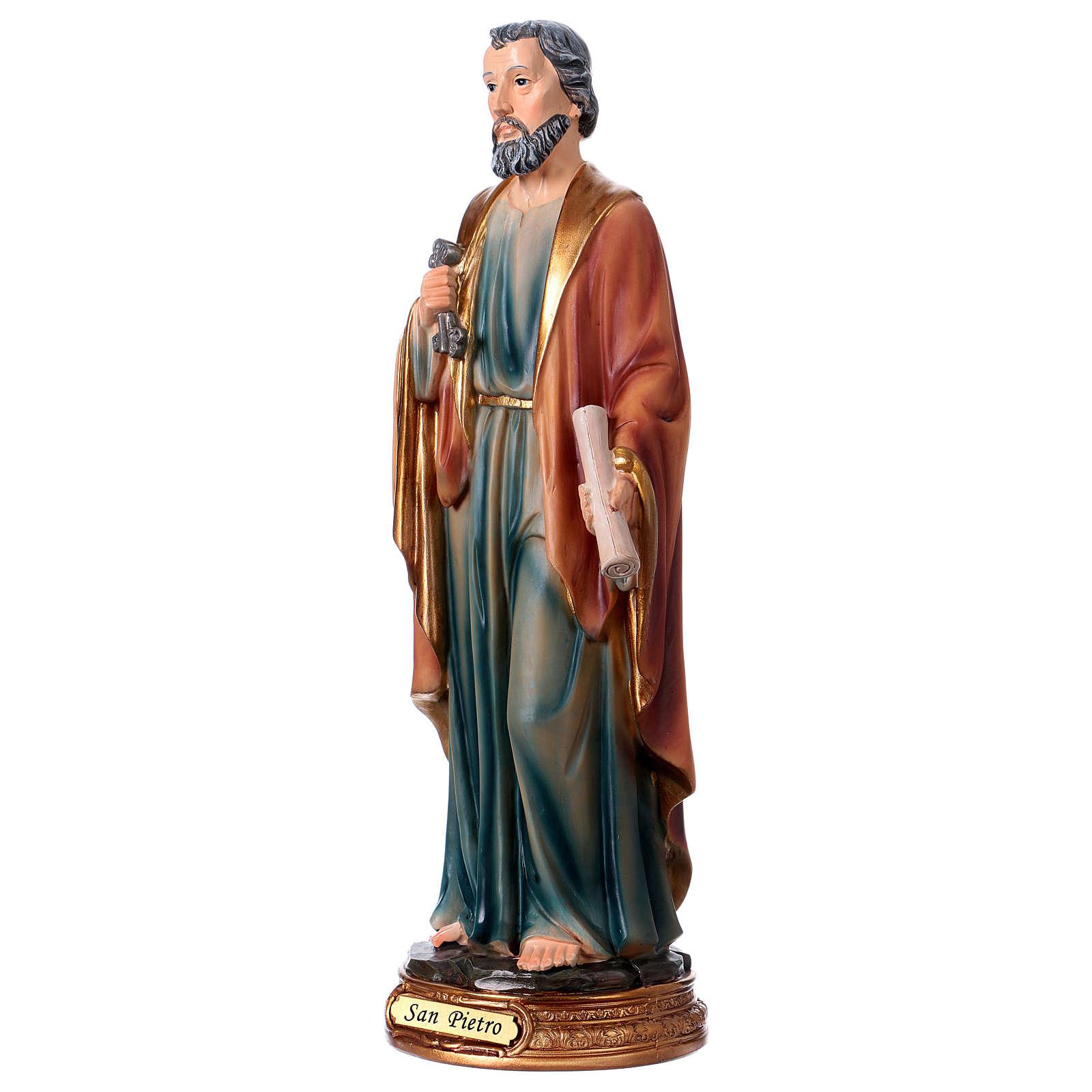 San Pietro resina 30 cm statua 4