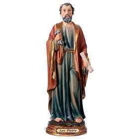 San Pietro resina 30 cm statua s1