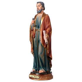 San Pietro resina 30 cm statua s3