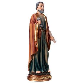 San Pietro resina 30 cm statua s4