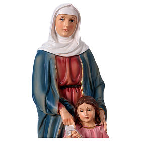 St. Anne with little Mary statue in resin 30 cm s2