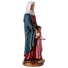 St. Anne with little Mary statue in resin 30 cm s4