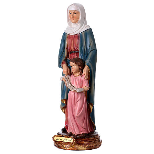 St. Anne with little Mary statue in resin 30 cm 3