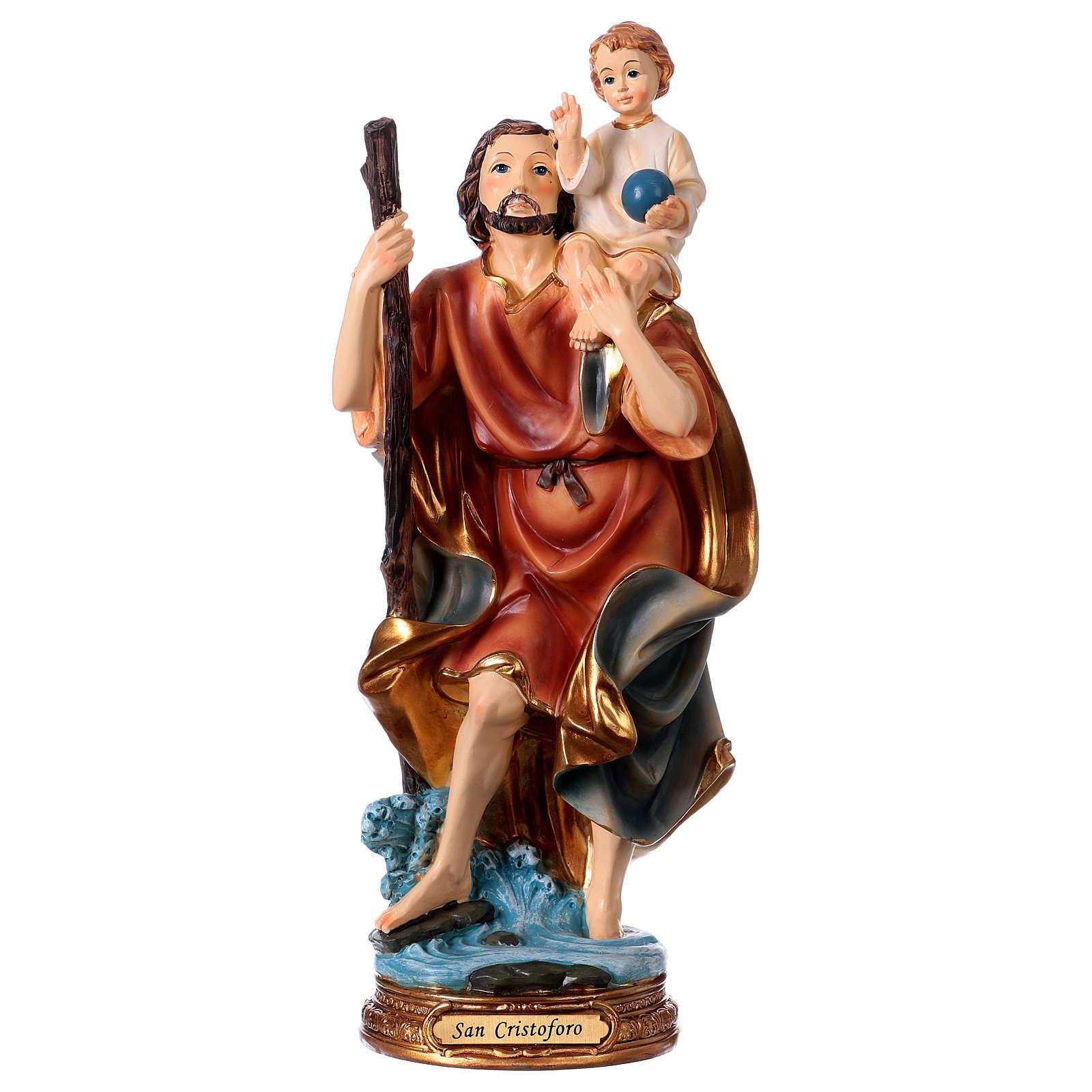 Saint Christophe résine h 30 cm 4