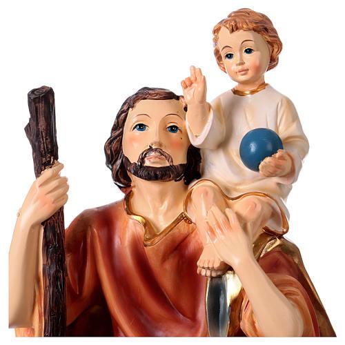 Saint Christophe résine h 30 cm 2