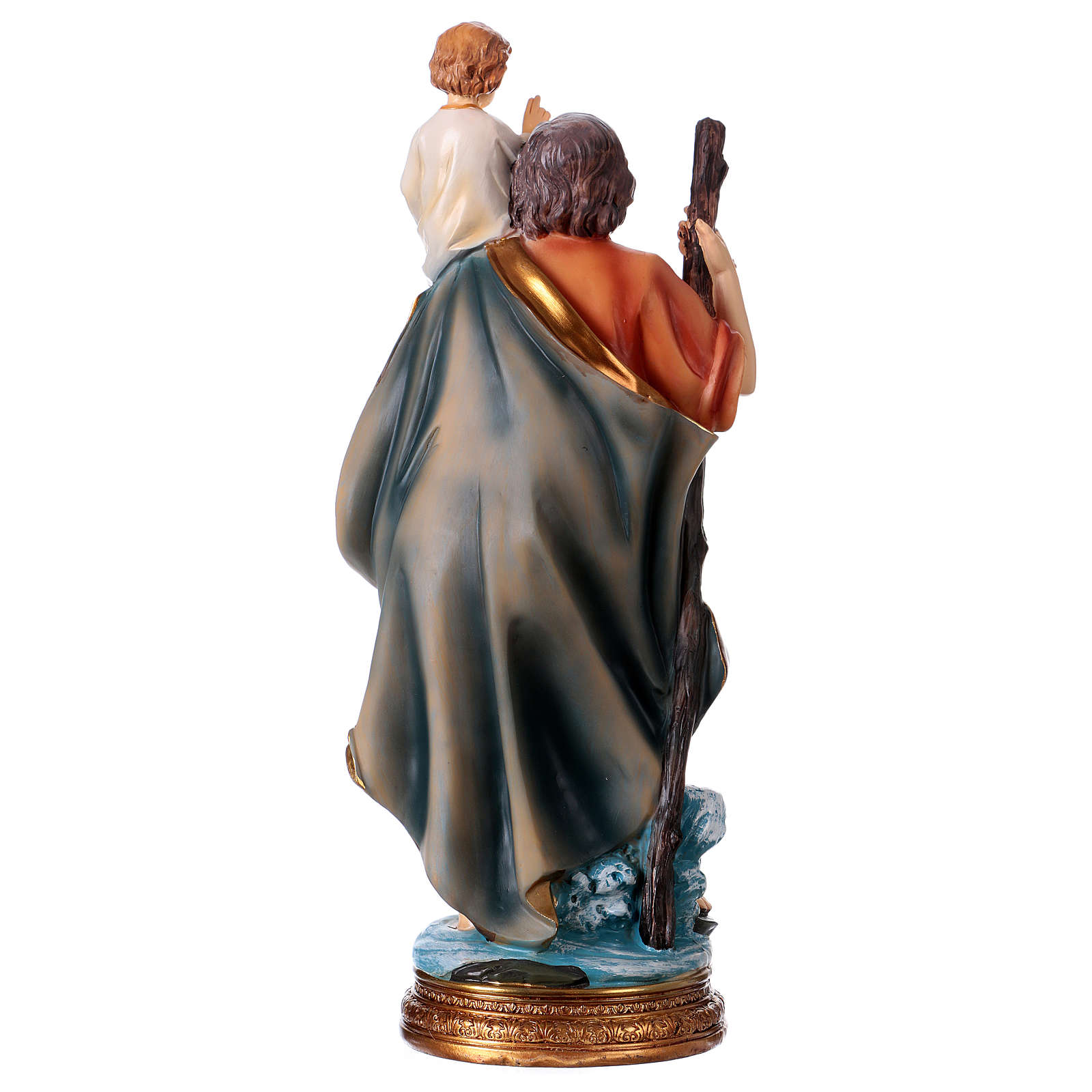St. Christopher Statue, 30 cm in resin 4