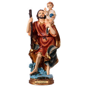 Resin & PVC statues: St. Christopher Statue, 30 cm in resin