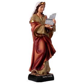 St. Cecilia statue in resin 30 cm s4