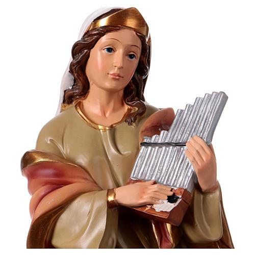 St. Cecilia statue in resin 30 cm 2