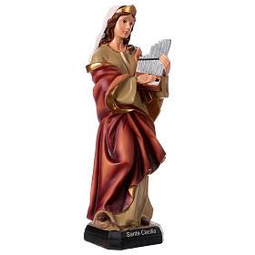 Statua Santa Cecilia 40 cm resina s4