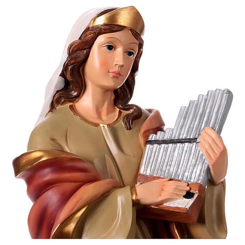 Statua Santa Cecilia 40 cm resina 2