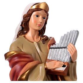 St. Cecilia Statue, 40 cm in resin s2