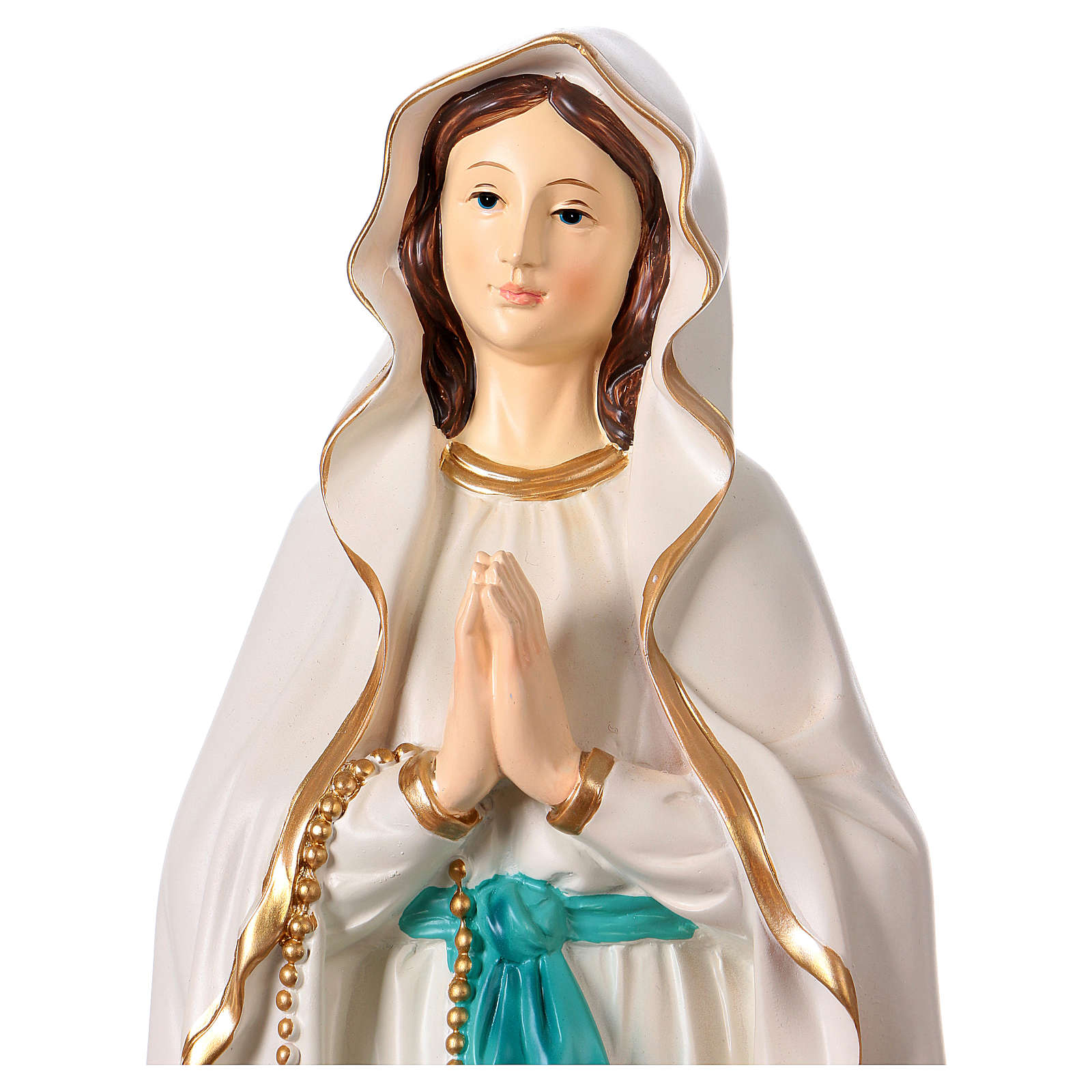 Resin Statue of Our Lady of Lourdes 40 cm 4