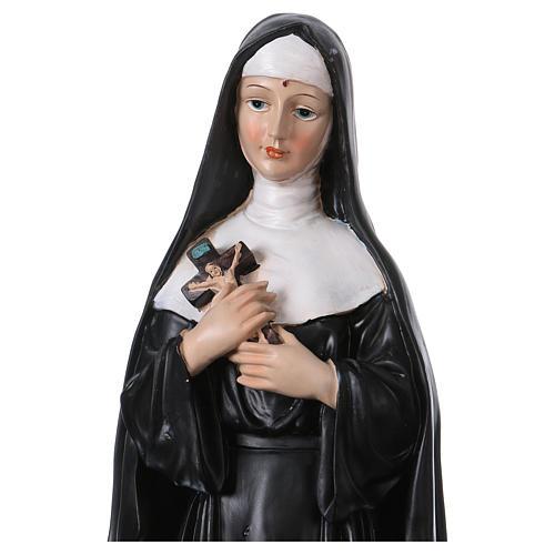 Santa Rita 50 cm estatua de resina