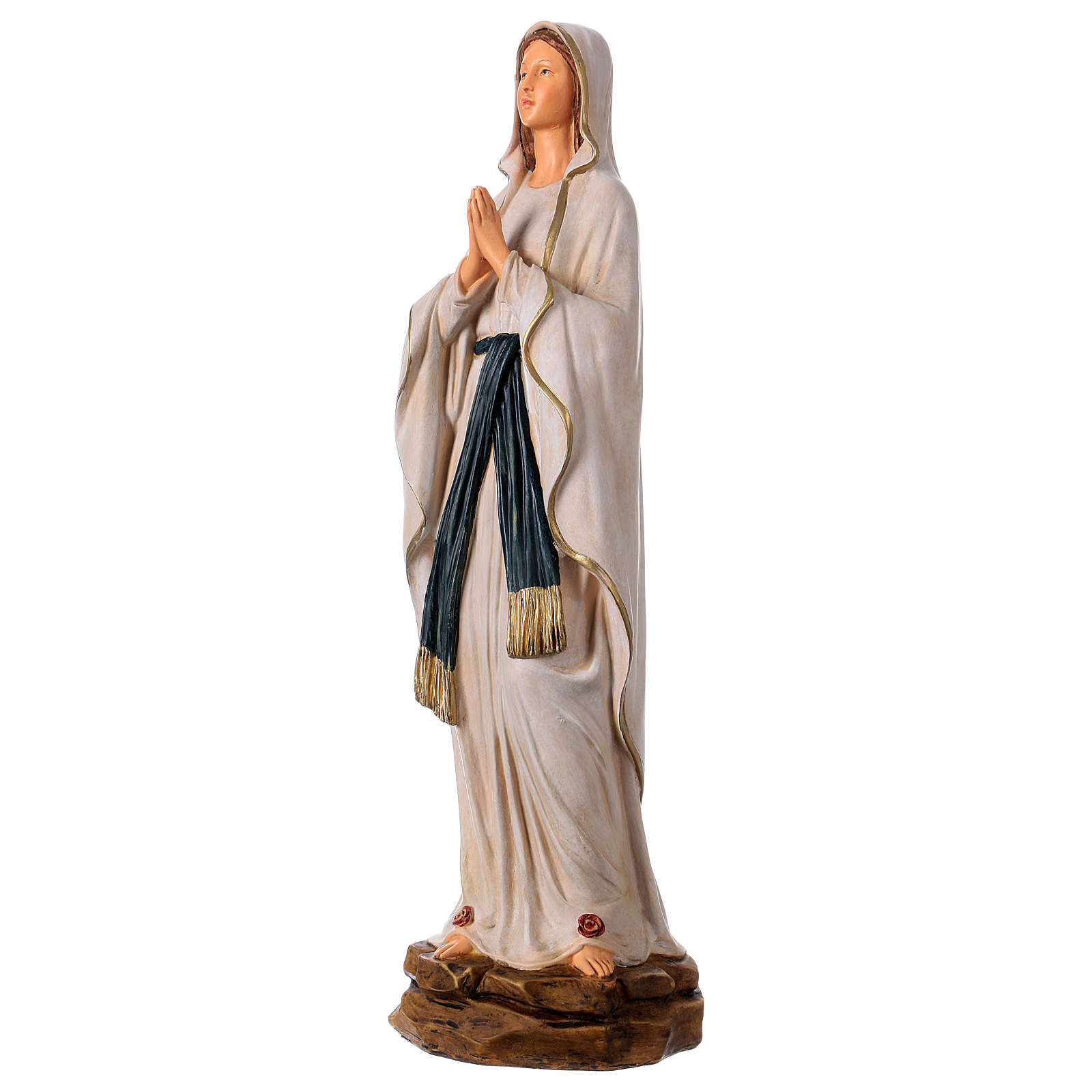 Our Lady of Lourdes statue in resin 36 cm 4