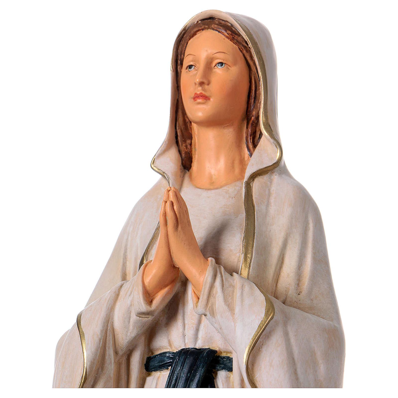Estatua de resina Virgen de Lourdes 36 cm 4