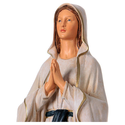 Estatua de resina Virgen de Lourdes 36 cm 2