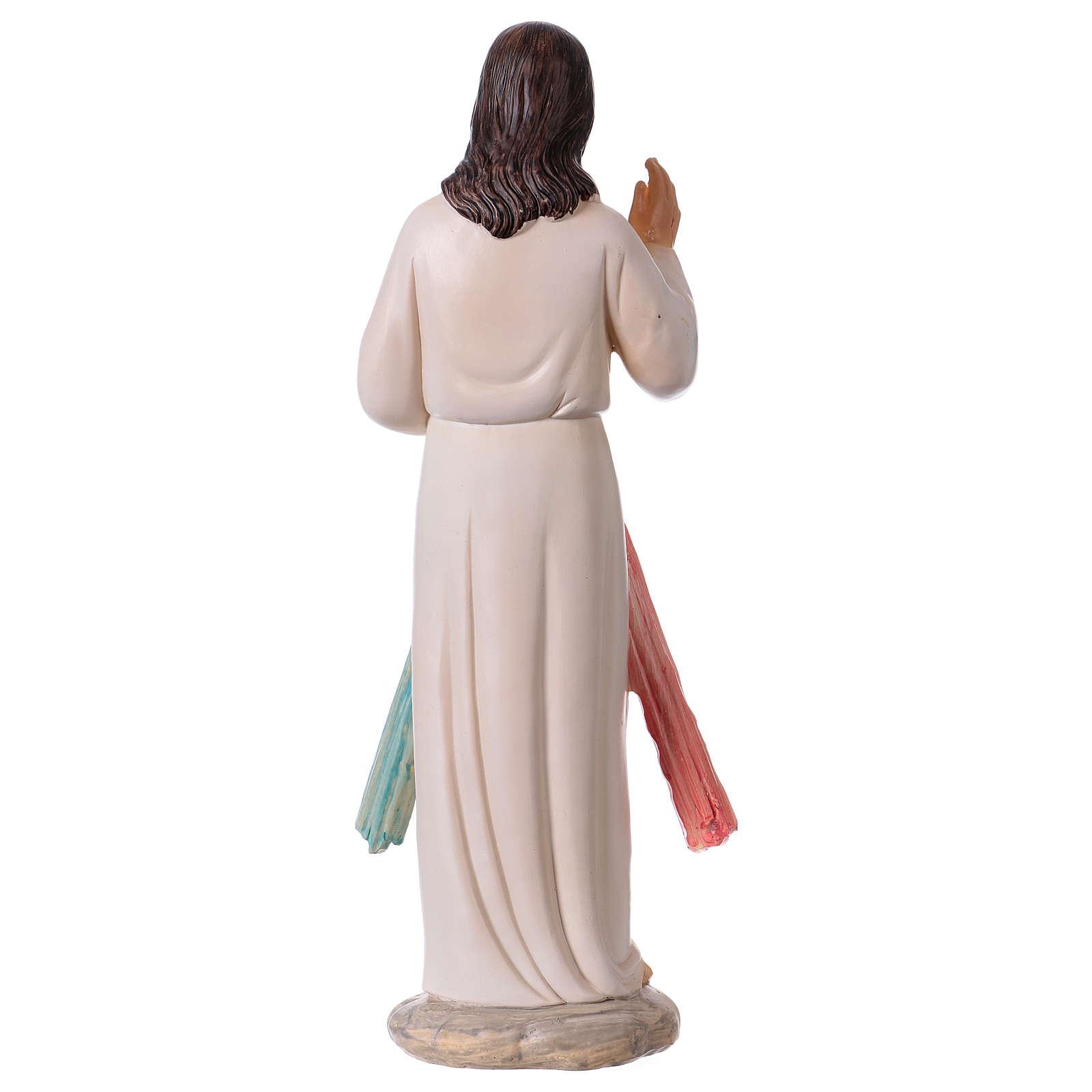 Divine Mercy of Jesus statue in resin 30 cm 4