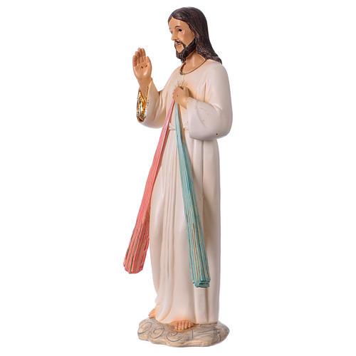 Gesù Misericordioso 30 cm statua in resina 3