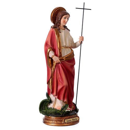 St. Martha Statue, 30 cm in resin 4