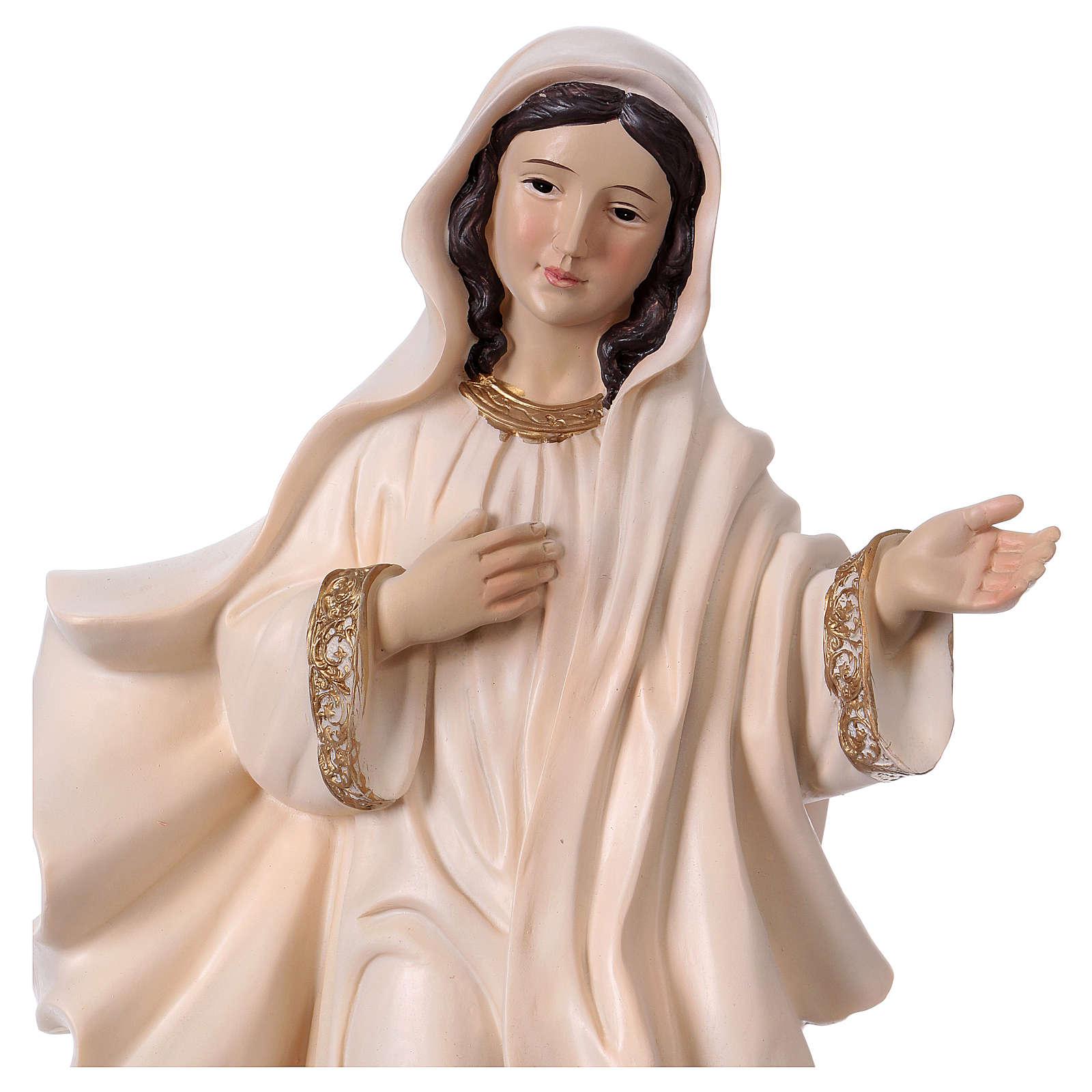 Virgen Medjugorje 40 cm estatua de resina 4