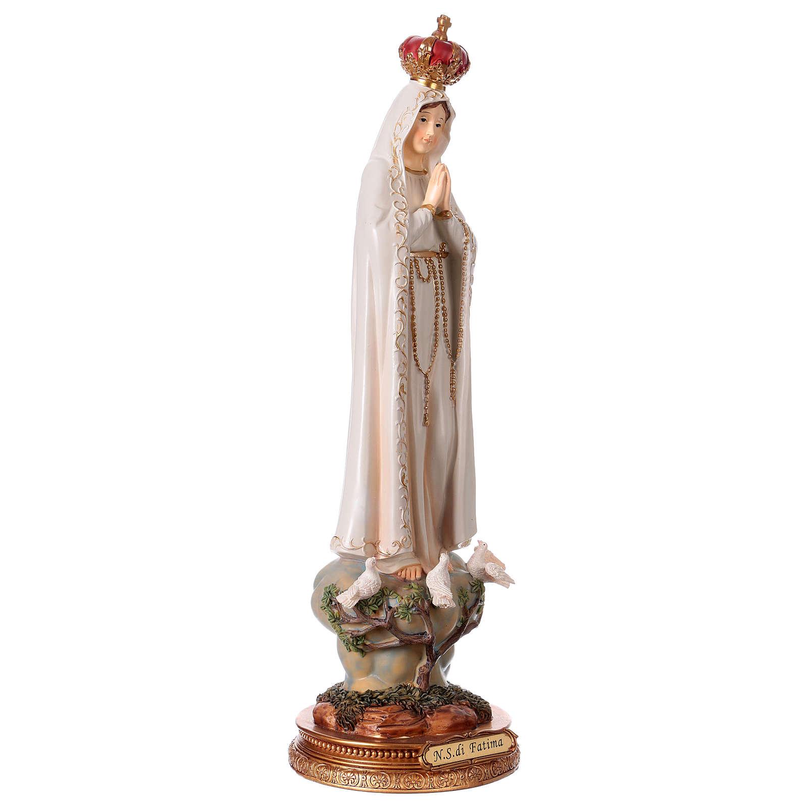 Virgen de Fátima 43 cm estatua de resina 4