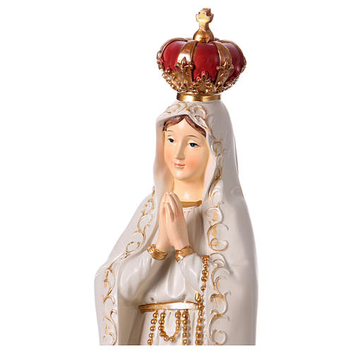 Madonna di Fatima 43 cm statua in resina 2