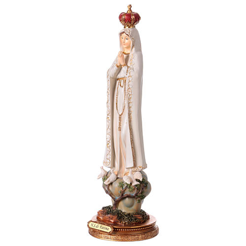 Madonna di Fatima 43 cm statua in resina 3