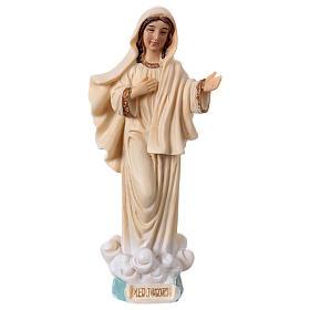 Madonna Medjugorje 13 cm statua in resina s1