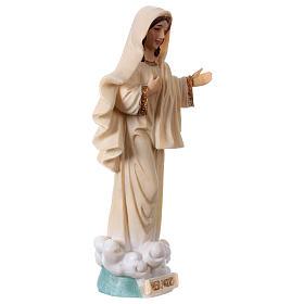 Madonna Medjugorje 13 cm statua in resina s3