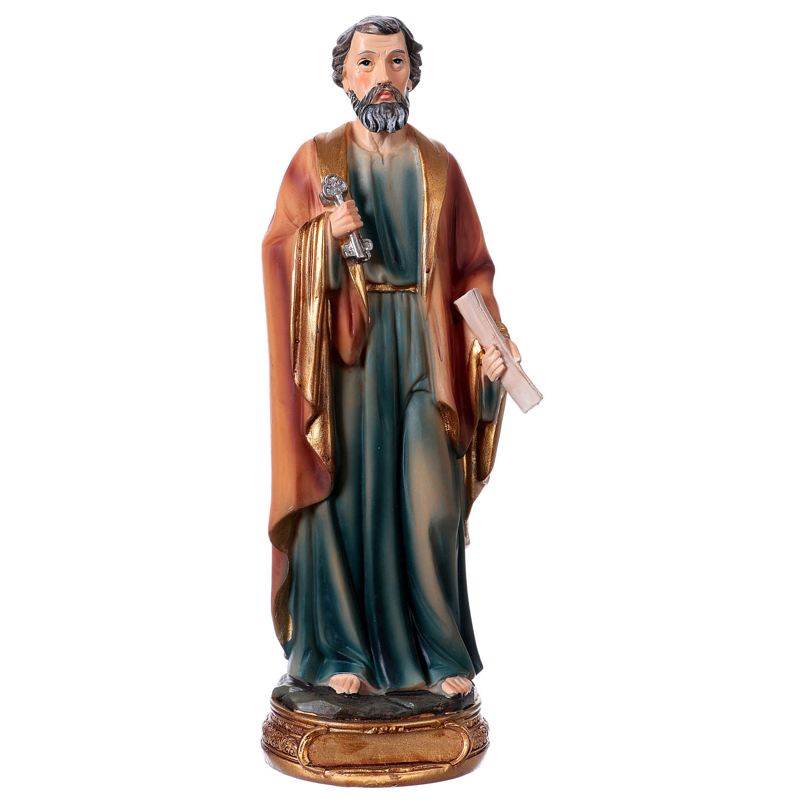 St. Peter statue in resin 20 cm 4