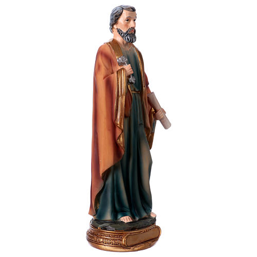 St. Peter statue in resin 20 cm 3