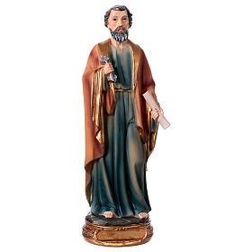 Estatua San Pedro 20 cm de resina s1