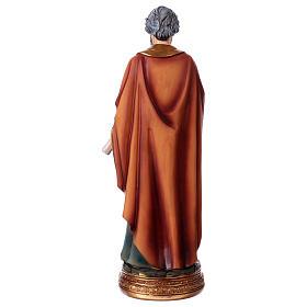 Estatua San Pedro 20 cm de resina s4