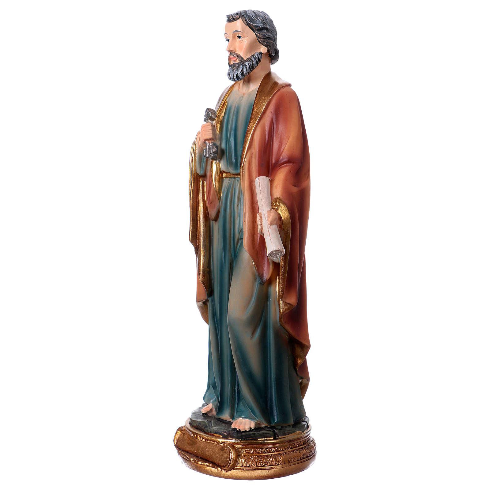 Statue Saint Pierre 20 cm en résine 4