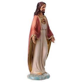 Sacro Cuore di Gesù 12 cm resina  s3