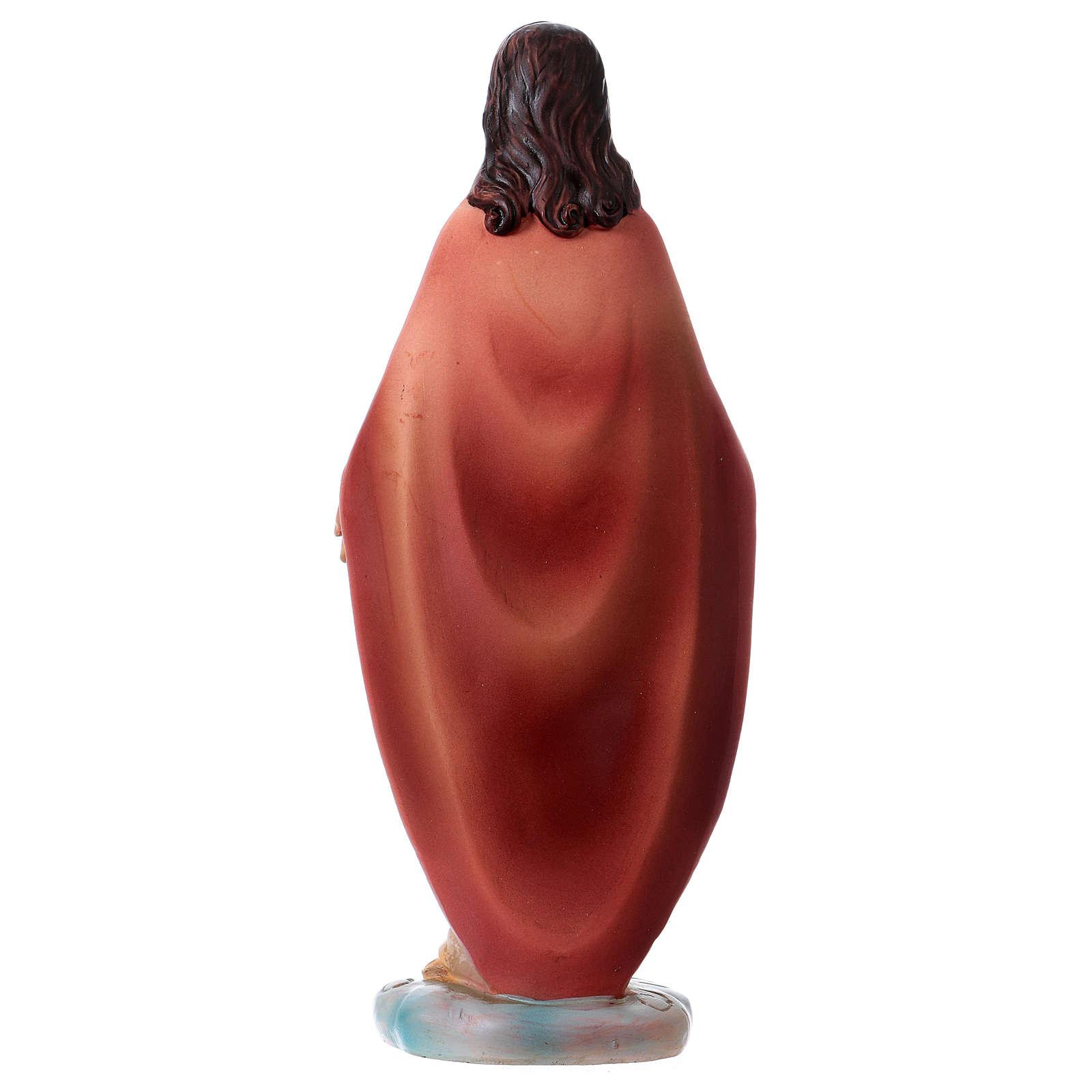 Sagrado Coração de Jesus 12 cm resina 4