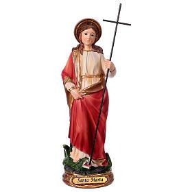 Heilige Martha 20cm aus Harz s1