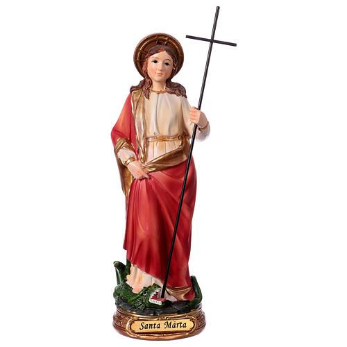 Heilige Martha 20cm aus Harz 1