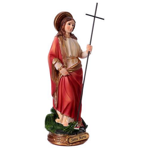 Heilige Martha 20cm aus Harz 3