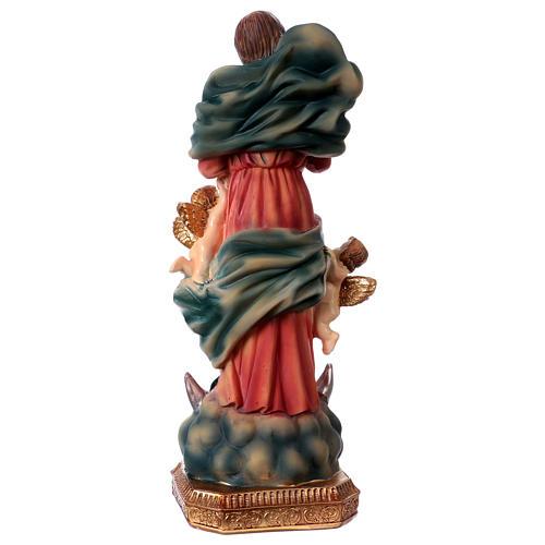 Madonna scioglie nodi 23 cm statua in resina 4
