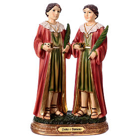 Saints Cosmas and Damian statue in resin 20 cm s1