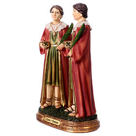 Saints Cosmas and Damian statue in resin 20 cm s2