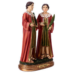Saints Cosmas and Damian statue in resin 20 cm s3